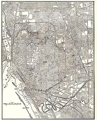 1941 Antique BUFFALO Map Vintage Map of Buffalo New York Gallery Wall Art 4753