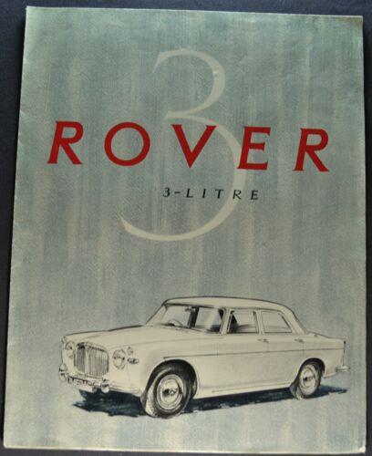 1959 Rover 3-Litre Saloon Sales Brochure Folder Sedan Nice Original 59