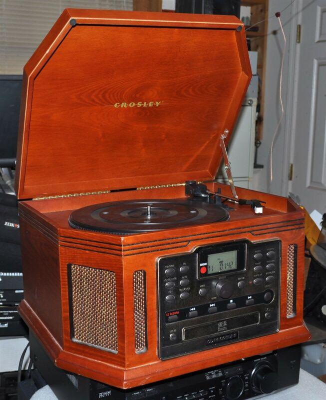 CROSLEY MODEL CR248 SONGWRITER TURNTABLE/CD RECORDER/TAPE/AM-FM GOOD VINTAGE
