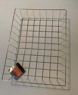 Gold Wire Letterpaper Basket Desk Organizer Tray