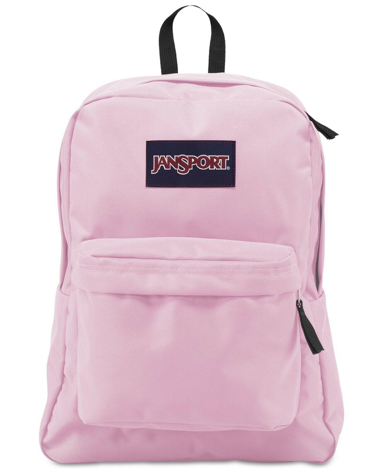 JANSPORT SuperBreak PINK MIST Backpack FREE Shipping! New wi