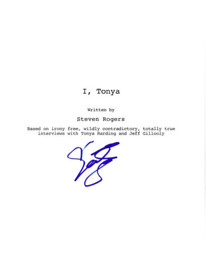 ACTOR SEBASTIAN STAN HAND SIGNED 'I, TONYA' FULL MOVIE SCRIPT SCREENPLAY w/COA