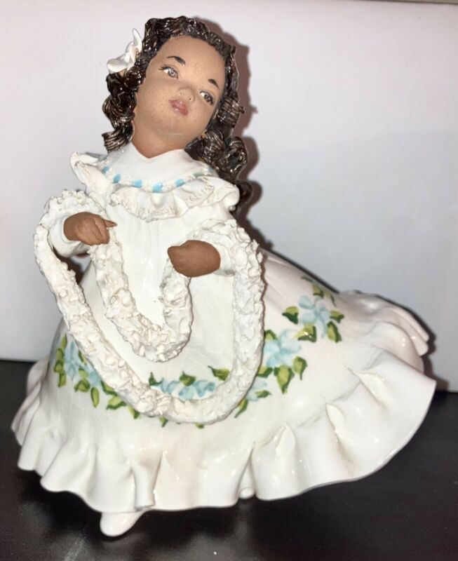 Scarce'50s JULENE Mechler Honolulu HAWAIIAN Charming Girl in Muumuu Figurine