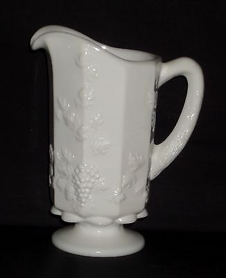 """Westmoreland PANELED GRAPE WHITE *8"""" 1 QT WATER PITCHER*PG 13*"""