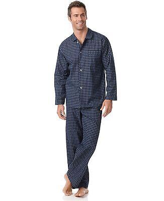 $105 CLUB ROOM Men's PAJAMA SET SHIRT PANTS Woven Blue Plaid LOUNGE SLEEPWEAR S