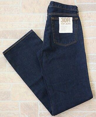 NWT J.Crew Womens Eased Straight Leg Boy Jean Size 30 30R Blue Dark Wash Relaxed Dark Wash Straight Leg Jean