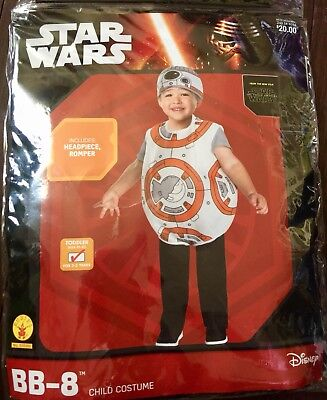 BB-8 Halloween Boy Costume Star Wars Droid BB8 Child Toddler Infant 3T 4T Disney