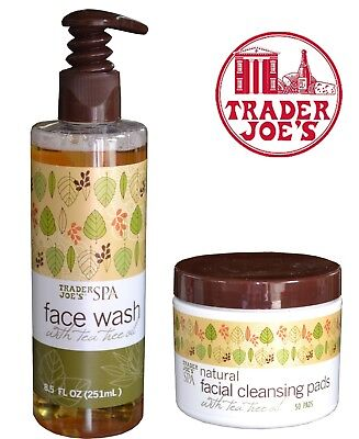 Trader Joe's SPA Face Wash Tea Tree Oil & Natural Facial Cleansing Pads 50 ()