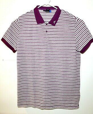 J Lindeberg Mens Striped Short Sleeve Golf Polo Shirt Regular Fit Sz XL  for sale  Las Cruces