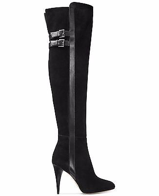 BRAND NEW $350 MICHAEL MICHAEL KORS DELANEY OVER- THE KNEE SUEDE LEATHER BOOTS