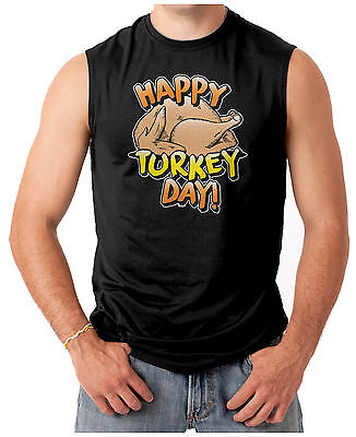 Happy Turkey Day T-shirt - Happy Turkey Day - Thanksgiving Men's SLEEVELESS T-shirt