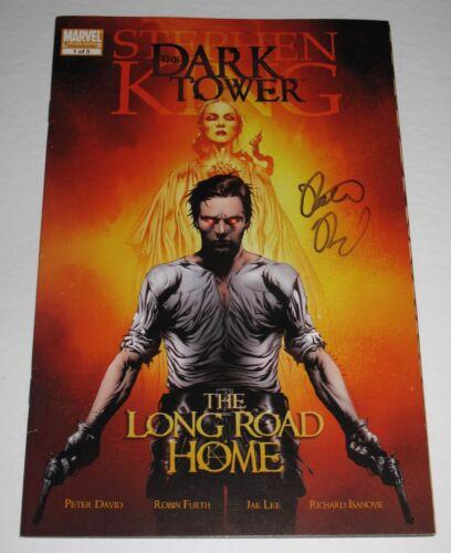 "PETER DAVID signed STEPHEN KING ""THE DARK TOWER"" Long Road Home MARVEL COMIC COA"
