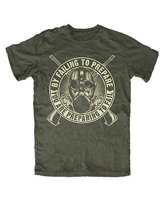 Prepper 2 T-Shirt  OLIV Apokalypse,Survival,Schutz,Katastrophe,Krise,Zombie,Jagd