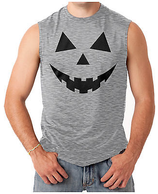 Pumpkin Face - Easy Halloween Costume Men's SLEEVELESS T-shirt (Easy Halloween Pumpkin)