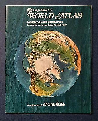 1977 RAND MCNALLY WORLD ATLAS - Full Color - Paperback - Vintage - Rare