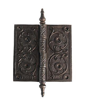 Victorian Steeple Tip Hinge 5 Inch Cast Iron Antique Style Hardware Restoration
