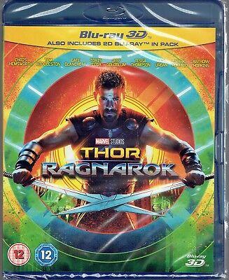 Thor  Ragnarok Brand New 3D  And 2D  Blu Ray Region Free 2017 Marvel Movie Mcu