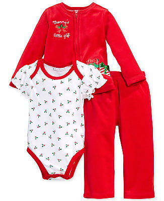 Impression Gift Kit (Macys First Impressions Christmas Mommy's Little Gift Outfit 0-3 Months Baby )