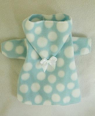 Xxxs Blue And White Fleece Hooded Dog Bathrobe Clothes Pc Dog®