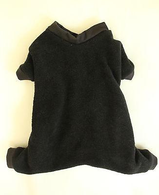 Xxxs Black Cozy Fleece Dog Pajamas Clothes Pjs Pet Apparel Teacup Pc Dog®