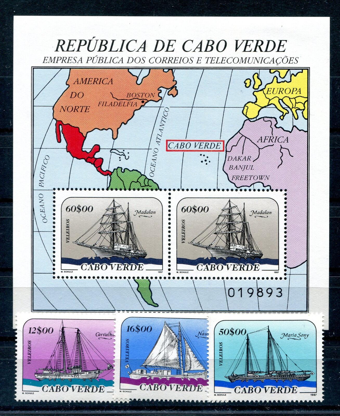 Kap Verde 523/25 Block 11 postfrisch / Schiffe ...........................2/1726
