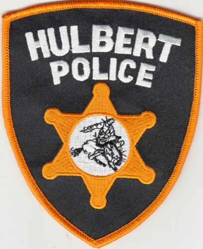 HULBERT POLICE SHOULDER PATCH OKLAHOMA OK