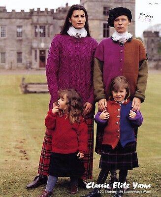 - Classic Elite Yarns Knitting Pattern #623 Gardens Castle Douglas Pullover, Cardi