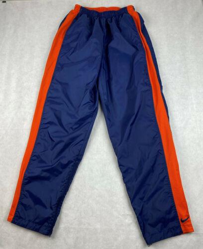 Vintage Rare NIKE Reversible Blue Nylon Orange Polyester Athletic Pants Mens M