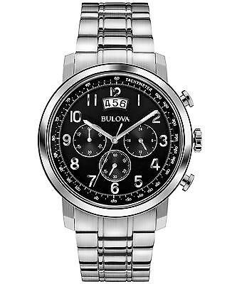 Bulova Men's 96B202 Chronograph Black Dial Bracelet 42mm Watch