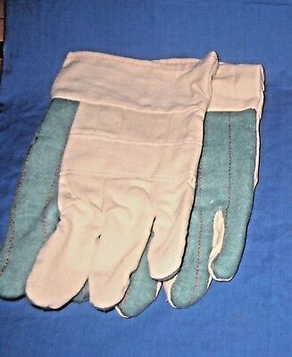 Lot 5 Pairs Of Liberty 4571a Hot Mill Ctn Heavyweight Mens Gloves 2-12 Band