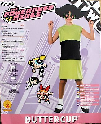 NEW POWERPUFF GIRLS Buttercup Halloween COSTUME US Size 2-4 for 1-2 Years