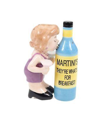 Salz und Pfefferstreuer Set Martini Frau mit Flasche Salzstreuer ()