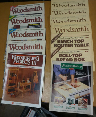 10-Woodsmith Magazine & Woodworking Project Textbook!!