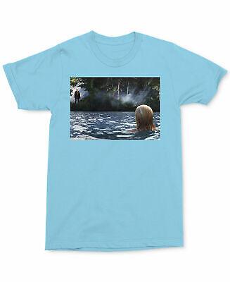 Changes Mens Short Sleeve Jason Lake Graphic T-Shirt Large L Sky Blue ()