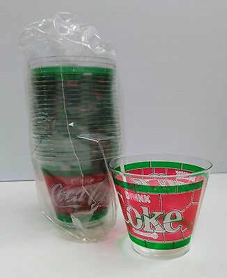 Coca-Cola Stain Glass Plastic Cups (20) - FREE SHIPPING