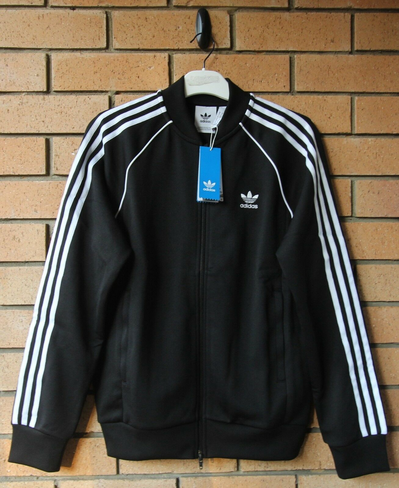 Details about Adidas Originals BR8 Track Jacket Men's ( Size S XL ) Black White CZ6109