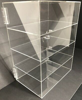 Acrylic Counter Top Display Case 12 X 8 X 16locking Cabinet Showcase Boxes