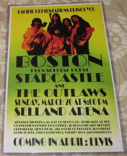 BOSTON 1977 SELLAND ARENA REPLICA CONCERT POSTER