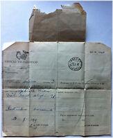 Telegramma - Avviso Di ,destinatario Sconosciuto, - 1939 -  - ebay.it