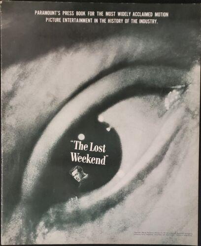 THE LOST WEEKEND (1945) Best Pic Oscar Winner, Billy Wilder Original Pressbook!