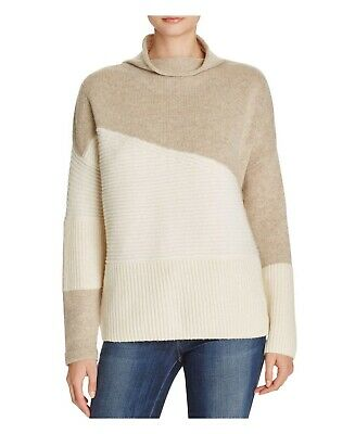 FRENCH CONNECTION neutral Color-block  sweater M Excellent -