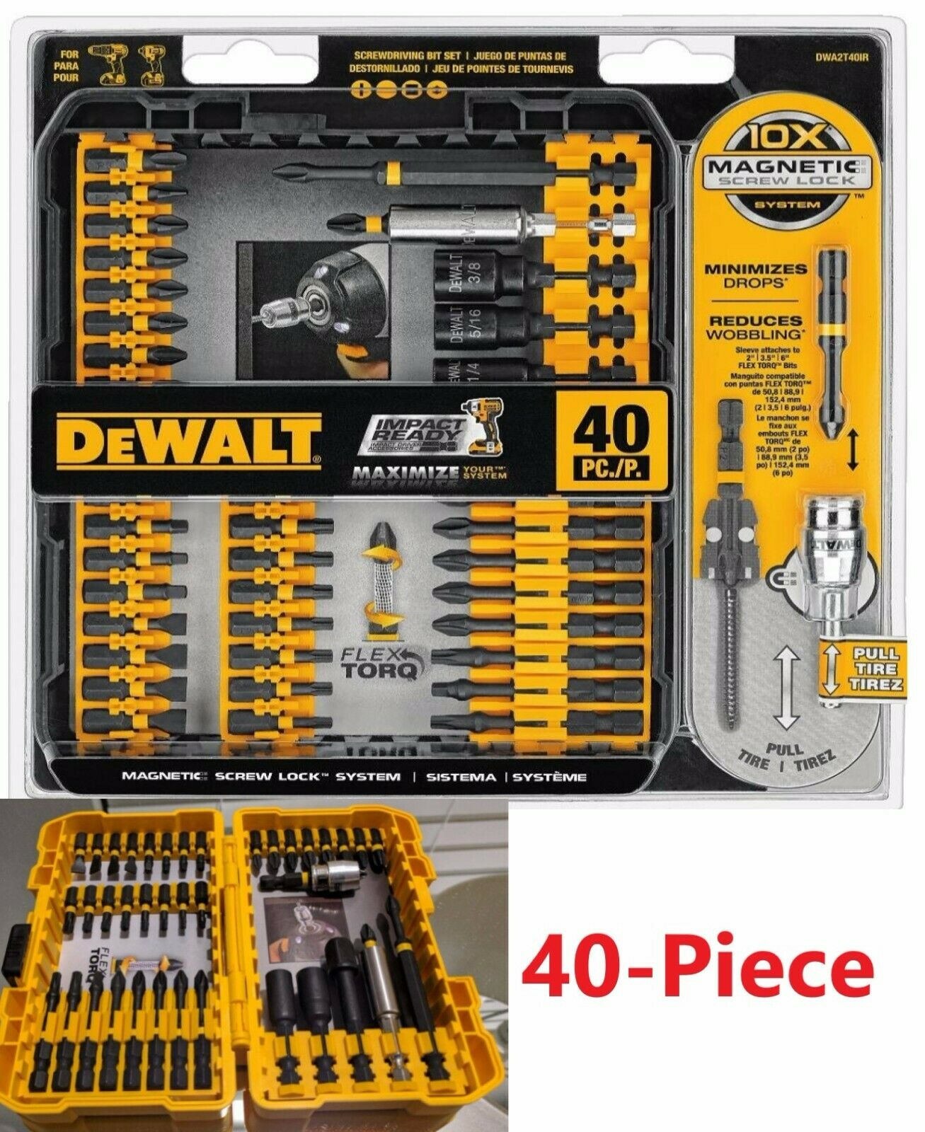 MAGNETIC SCREWDRIVER BIT SET Impact Ready Drill Driver Bits