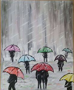 Raindrops painting by local artist