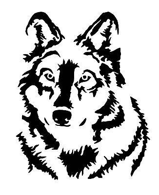 Wolf small vinyl car Decal / Sticker