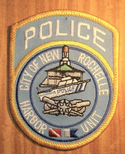 GEMSCO NOS Vintage Patch POLICE - HARBOR UNIT - NEW ROCHELLE NY Original 30+
