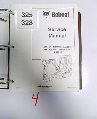 Bobcat 325 328 G Series Compact Excavator Service Manual Shop 6902745 104