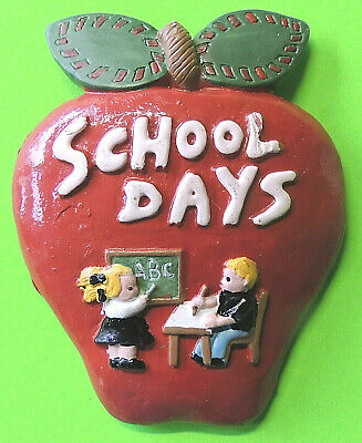 School Days Polystone Refrigerator Magnet Hermitage Pottery Great Teacher Gift