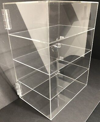 Acrylic Counter Top Display Case 12x 9.5 X16locking Cabinet Showcase Boxes