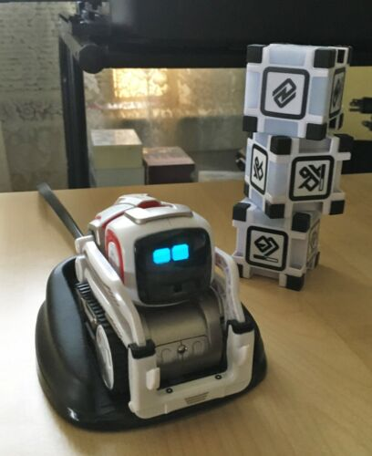 Working Anki Cozmo Robot Electronic Toy Robot with Cubes and Charger 000-00048
