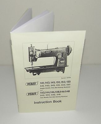 PFAFF Sewing Machine Multi Models 141 143 151 155 546 148 etc Instruction Manual